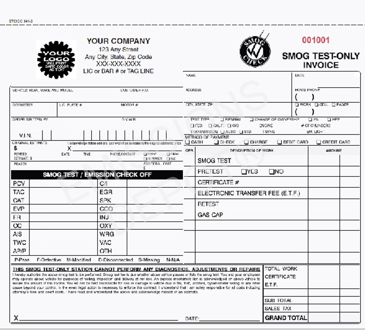 automotive invoice