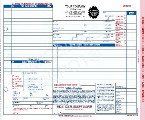 work order invoice