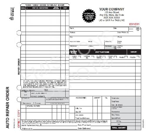 sign shop work order template
