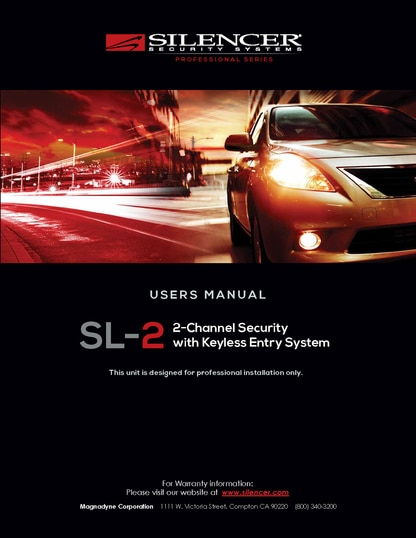 Silencer SL-2 | User's Manual - Full Version