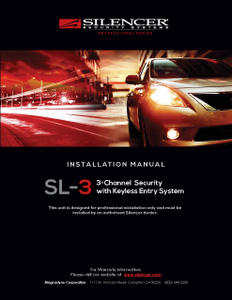 Silencer SL-3 | Installation Manual - Full Version