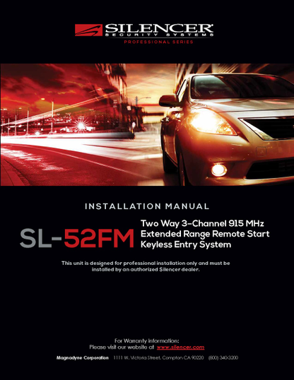 Silencer SL-52FM | Installation Manual - Full Version