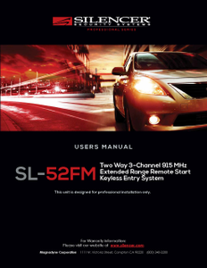 Silencer SL-52FM | User's Manual - Full Version