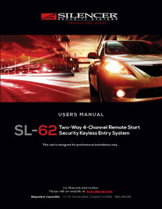 Silencer SL-62 | Users Manual - Full Version
