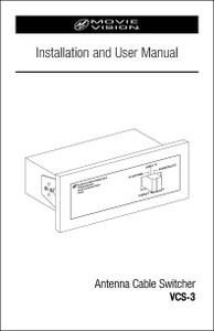 Movie Vision VCS-3 | Installation & User Manual