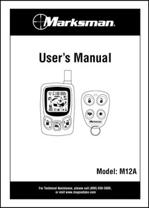 Marksman M12A   Owner's Manual