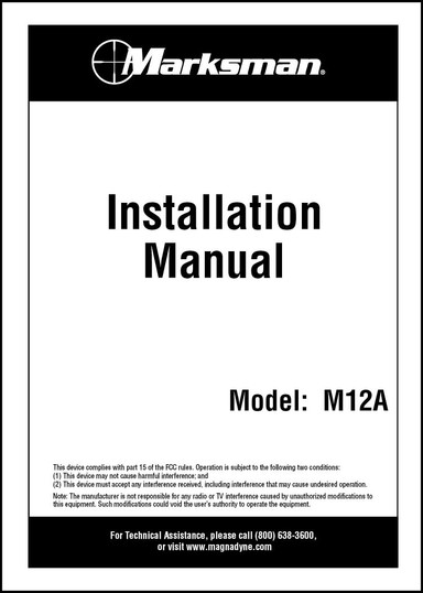 Marksman M12A | Installation Manual