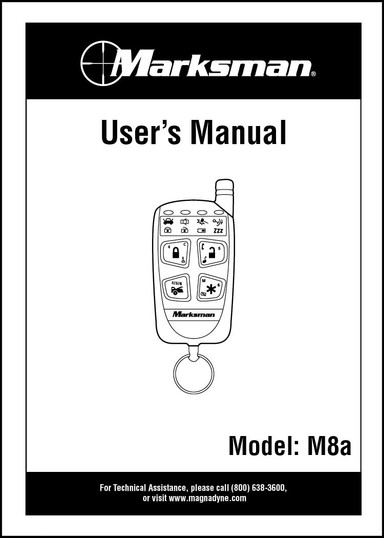 Marksman M8A   Owner's Manual