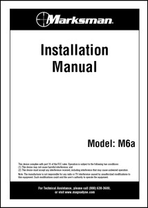 Marksman M6A | Installation Manual