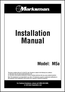 Marksman M5A | Installation Manual