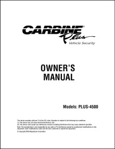 Carbine Plus-4500 | Owners  Manual