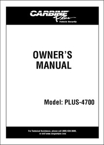 Carbine Plus-4700 | Owners Manual