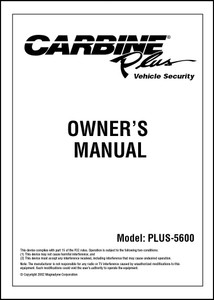Carbine Plus-5600 | Owner's Manual