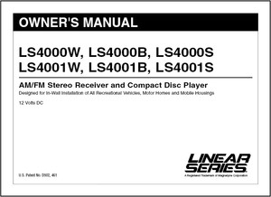 Linear Series LS4000W/LS4000B/LS4000S/LS4001W/LS4001B/LS4001S | Owner's Manual