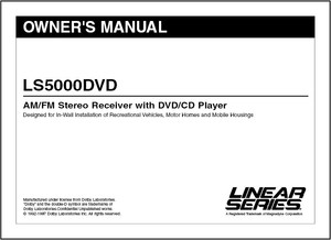 Linear Series LS5000DVD | Owner's Manual