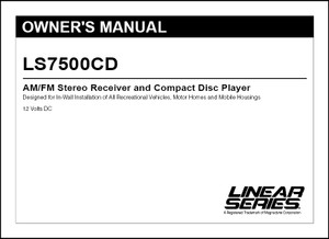 Linear Series LS7500CD | Owner's Manual