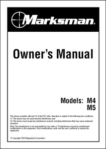 Marksman M4/M5 | Owner's Manual