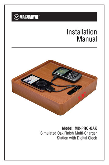 Magnadyne MC-PRO-OAK | Simulated Oak Finish Multi Charger Station with Digital Clock - Installation Manual