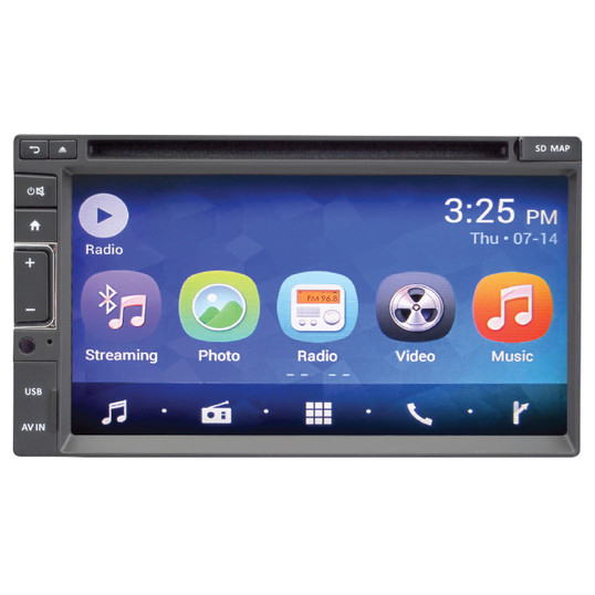 Magnadyne M6 | Touch Screen Multi-Media Receiver with DVD, Bluetooth & WiFi - Front View