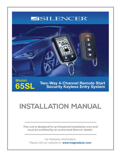 Silencer 65SL | Installation Manual