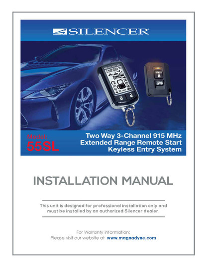 Silencer 55SL | Installation Manual