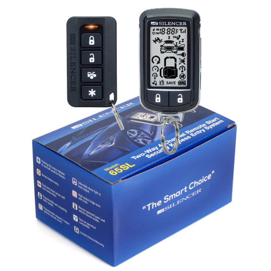 Silencer 65SL   Long Range Two-Way Remote Starter and Full Security System -  - Packaging & Remotes