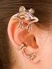 Bronze Curious Frog Ear Wrap