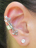 EAR CUFF SPECIAL - Mocking Jay and Quiver and Arrow ear cuff combo special - silver - Buy 2 Get 1 ear cuff FREE