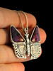 Small Jeweled Butterfly with Purple Lace Agate Wings