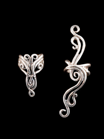 EAR CUFF SPECIAL Abstract Ear Cuff Combo Silver - Buy 2 Get 1 Ear Cuff Free