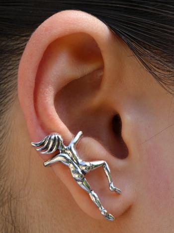 Ear Woman Ear Cuff Sterling