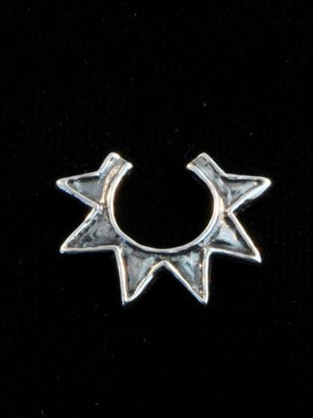 Ninja Star Ear Cuff - Silver