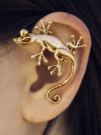 Good Luck Gecko Ear Wrap - Bronze