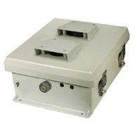 The HW-N12-V is a rugged weatherproof enclosure that is ideal for both indoor and outdoor applications. Constructed from molded halogen free self extinguishing fiberglass reinforced polyester (FRP), it is well suited for high temperature or corrosive environments. The integral mounting flange allows it to be wall mounted as well as on a flat surface without the need for extra mounting hardware. The fully gasketed lid features two stainless steel quick release latches and a continuous stainless steel hinge. The light grey color of the NB121005 series is cleaner, cooler and aesthetically pleasing. Users can enjoy the physical benefits of better heat reflection and better UV resistance due to the lighter color. The contoured body provides an attractive and contemporary appearance. The HW-N12-V features an aluminum mounting plate and holes in the enclosure for two Type-N bulkhead lightning protectors or connectors. In addition, a grounding lug and a cable conduit connector are provided.