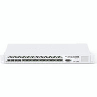 Cloud Core Router 1036-12G-4S with Tilera Tile-Gx36 CPU (36-cores, 1.2Ghz per core), 16GB RAM, 4xSFP cage, 12xGbit LAN, RouterOS L6, 1U rackmount case, PSU, LCD panel  CCR1036-12G-4S-EM is an industrial grade router with cutting edge 36 core CPU! Unprecedented power and unbeatable performance - this is our new flagship device, the Cloud Core Router (CCR1036). If you need many millions of packets per second - Cloud Core Router with 36 cores is your best choice.  This new kit comes preinstalled with 16GB of RAM to provide you the absolute best performance possible in a MikroTik device.  The device comes in a 1U rackmount case, has four SFP ports, twelve Gigabit ethernet ports, a serial console cable and a USB port.  The CCR1036-12G-4S-EM has two DDR3 SODIMM slots, by default it is shipped with 16GB of RAM, and has no memory limit in RouterOS.  New generation CPU  36 core CPU 1.2GHz clock per core 12 Mbytes total on-chip cache State of the art TILE GX architecture Highest performance  8 mpps standard forwarding 24 mpps fastpath forwarding (wire speed for all ports) Up to16Gbit/s throughput Full set of features  1U rackmount case 12x Gigabit ports 4x SFP ports Color touchscreen LCD Ports directly connected to CPU 16GB of RAM
