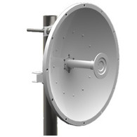 Features:  Industry leading interference rejection design blocks all frequencies below 4.4GHz Robust Design meets ETSI EN300, EN302, 2003/108/EC and 2002/95/EC specifications High Port to Port Isolation for Ideal MIMO Performance Unique mounting feature for ARC enclosures, Ubiquity Rocket, etc. Maximum gain achieved with 70% aperture efficiency Dual Polarization (H & V) Manufactured under strict US quality control proce-dures Precise alignment achievable with the high strength pole mount bracket. (included) Optional radome available for improved environmental protection (P/N ARC-RD-2FTABS – Sold Separately)