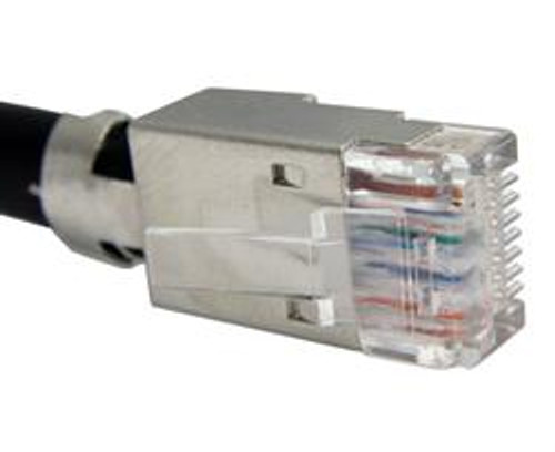 Cat6, Cat6A & Cat7 8x8 Shielded RJ45 Modular Plugs Applications Ideal for creating superior high performance CAT6a patch cables in 10Gigabit Ethernet applications where high density routers and switches are employed Meets CAT6a performance requirements per ANSI/TIA-568-B.2-10 Robust shield termination and strain relief allow for one-step termination process Optional slim line boot features integrated strain relief and latch protection Selectively plated contacts with 50 micro-inches of gold UL 94-V0 plastic components RoHS compliant