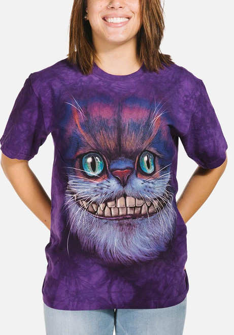 Big Face Cheshire Cat T-Shirt Modeled