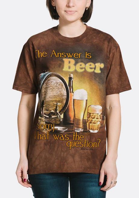 Beer Outdoor T-Shirt Modeled