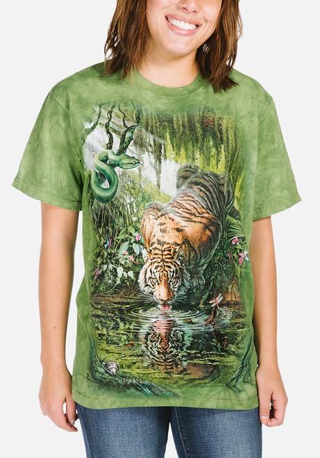 Enchanted Tiger T-Shirt Modeled