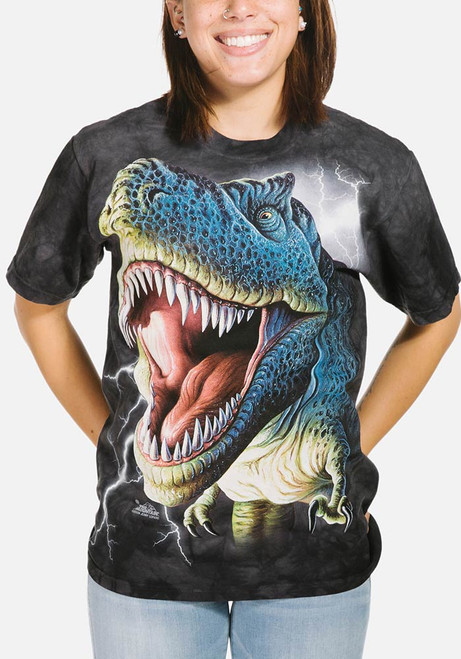 Lightning Rex T-Shirt Modeled