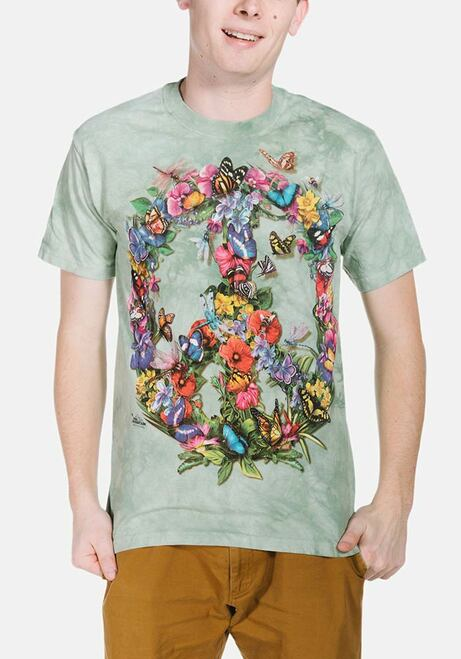 Butter Dragon Peace T-Shirt Modeled
