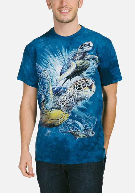 Find 9 Sea Turtles T-Shirt Modeled