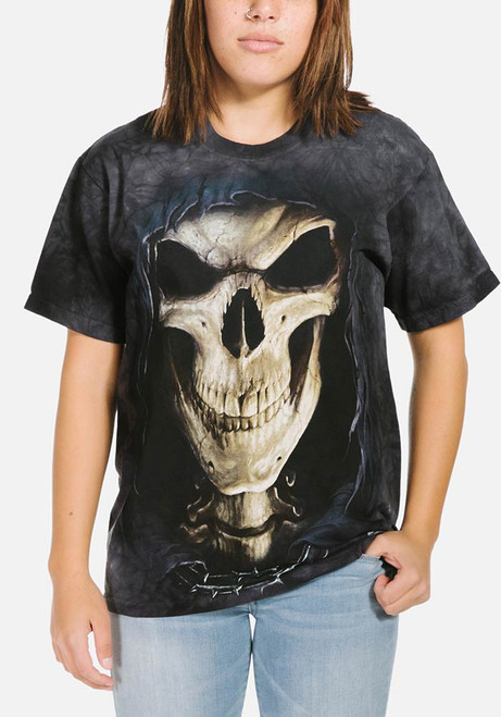 Big Face Death T-Shirt Modeled
