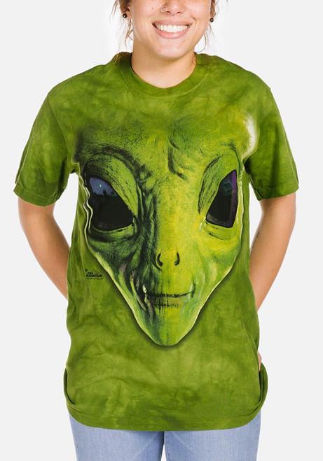 Green Alien Face T Shirt