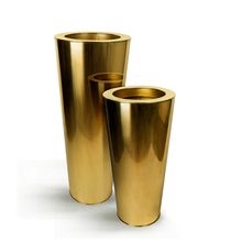 Gold Stainless Steel Cone Planter
