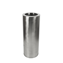 Stainless Steel Cylinder Planter - Satin Finish