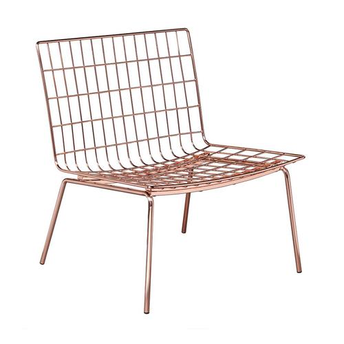 Perpetual Mesh Link Lounge Chair