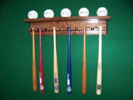 BASEBALL BAT RACKS, Mini 10 Bat 5 Ball Display  MBC 410-A-5