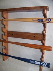 BASEBALL BAT RACKS.COM, Gun Style Mini Bat Rack with nice top shelf  MBC 600